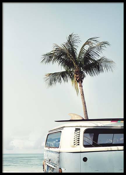 Surfers Van Poster