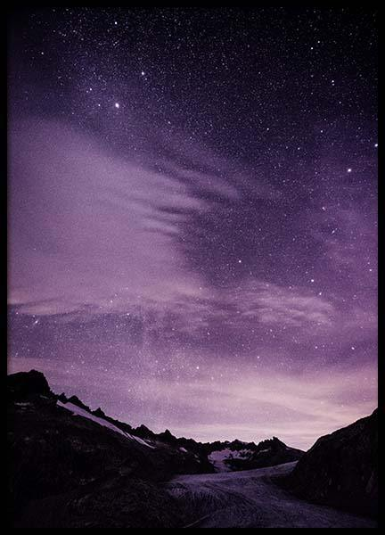 Purple Night Sky Poster in der Gruppe Poster / Naturmotive bei Desenio AB (10046)