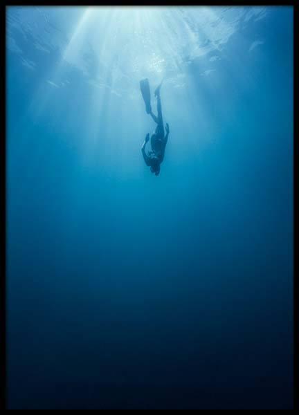 Indigo Ocean Poster