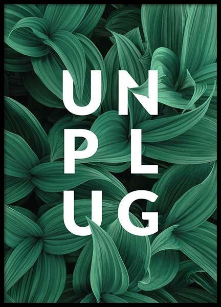 Unplug Poster