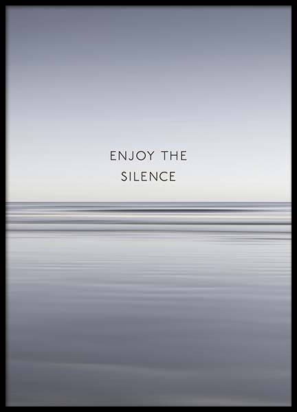 Enjoy The Silence Poster in der Gruppe Poster / Mindfulness bei Desenio AB (10300)