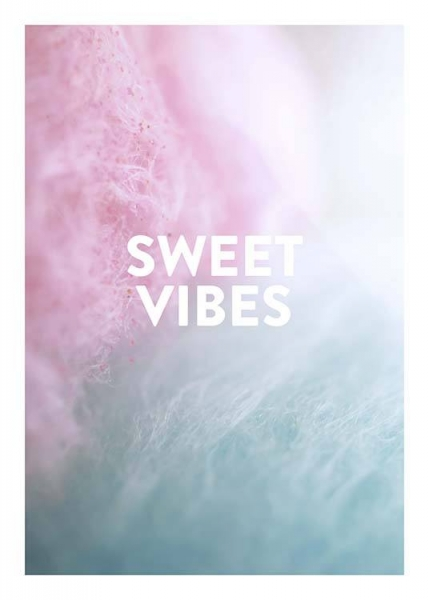 Sweet Vibes Poster in der Gruppe Poster / Typografie Poster bei Desenio AB (10310)