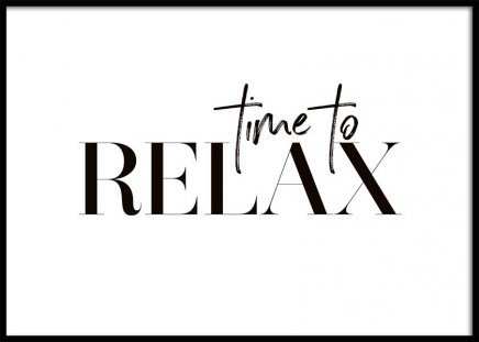Time To Relax Poster in der Gruppe Poster / Typografie Poster bei Desenio AB (10368)