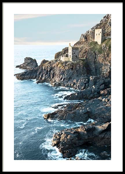 Botallack Tin Mine North Cornwall Poster in der Gruppe Poster / Naturmotive bei Desenio AB (10470)