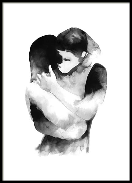 Ink Embrace Poster in der Gruppe Poster / Illustration bei Desenio AB (10535)