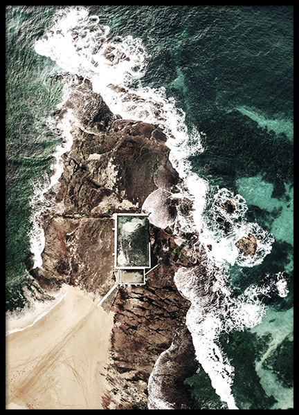 Manly Natural Pool Poster
