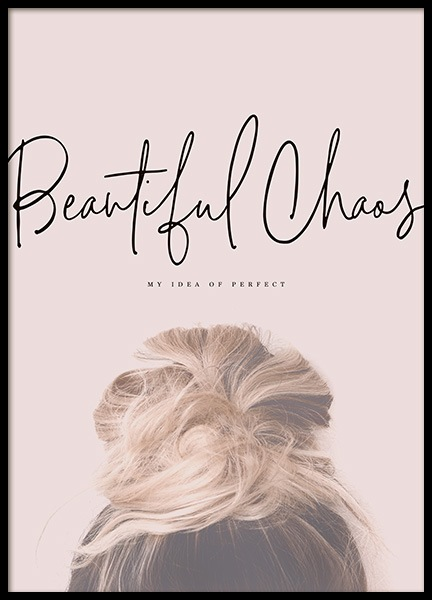 Beautiful Chaos Poster in der Gruppe Poster / Typografie Poster bei Desenio AB (10730)