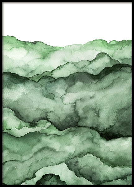 Abstract Green Field Poster