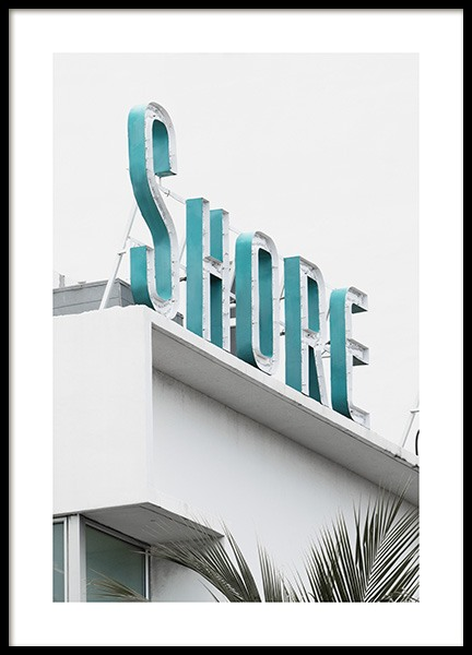 Shore Sign Poster