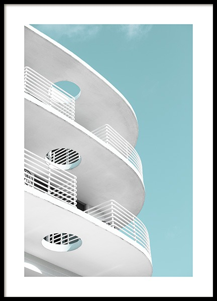 Art Deco Ocean Drive Poster in der Gruppe Studio Collections / Studio Coast to Coast / Miami bei Desenio AB (10766)