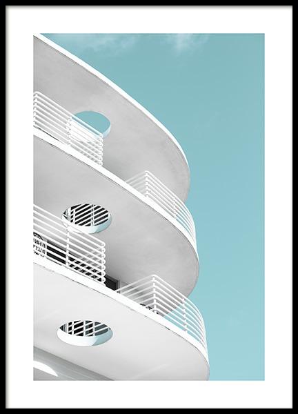 Art Deco Ocean Drive Poster