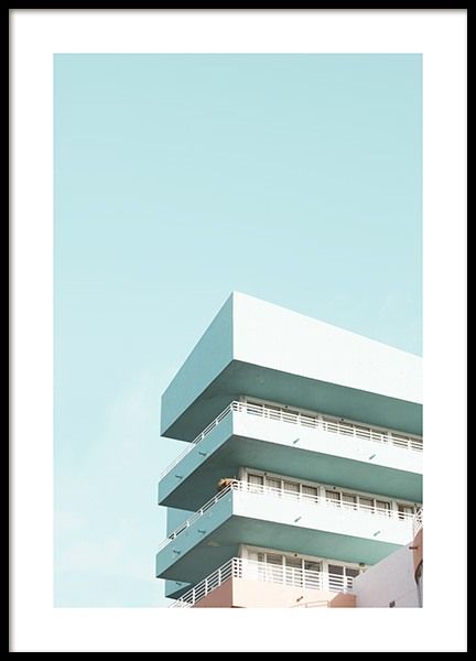 Pastel Balconies Poster in der Gruppe Studio Collections / Studio Coast to Coast / Miami bei Desenio AB (10767)