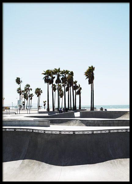 Venice skate park Poster