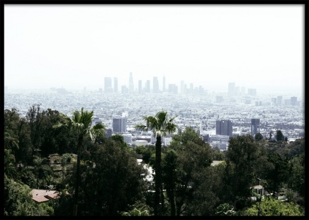 Skyline of Los Angeles Poster