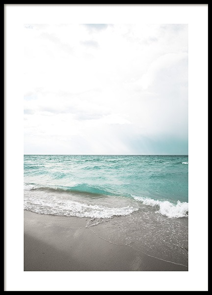 Turquoise Beach Poster in der Gruppe Poster / Naturmotive bei Desenio AB (10820)