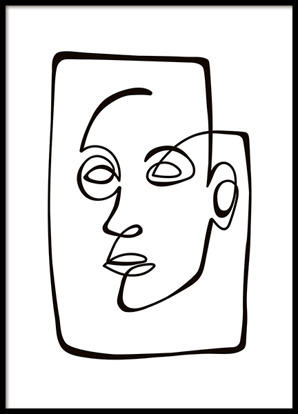 Abstract Line Portrait Poster in der Gruppe Poster / Illustration bei Desenio AB (10838)