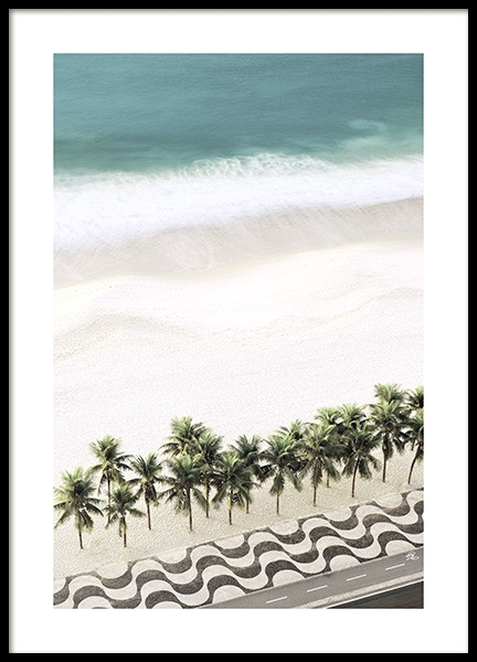 Row of Palm Trees Poster in der Gruppe Poster / Naturmotive bei Desenio AB (10887)