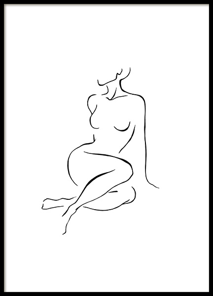 Posing Line Art Poster
