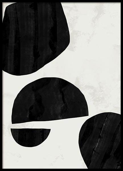 Abstract Shapes No1 Poster