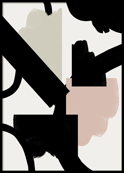 Abstract Shapes No3 Poster in der Gruppe Poster / Kunstdrucke bei Desenio AB (11034)