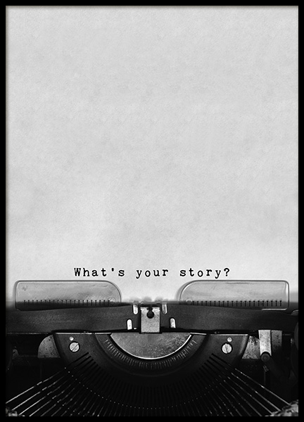 What's Your Story Poster in der Gruppe Poster / Typografie Poster bei Desenio AB (11127)
