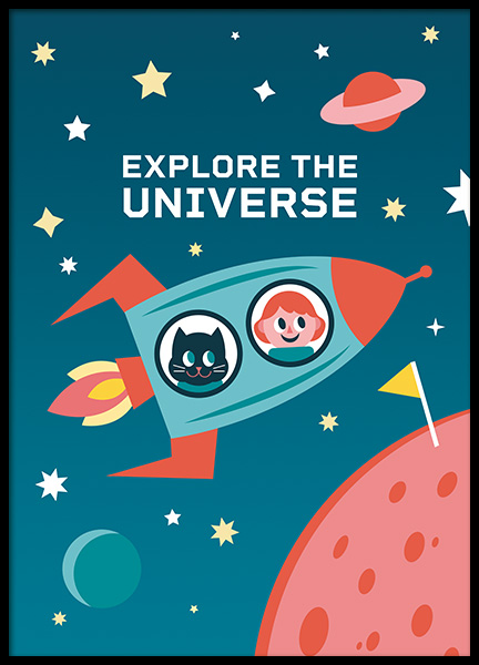 Explore the Universe Poster in der Gruppe Poster / Kinder bei Desenio AB (11165)