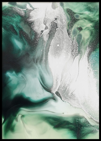 Abstract Green Painting Poster in der Gruppe Poster / Kunstdrucke bei Desenio AB (11264)