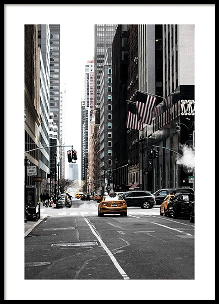 New York Street Poster in der Gruppe Poster / Studio Collections / Studio Cosmopolitan / New York bei Desenio AB (11326)