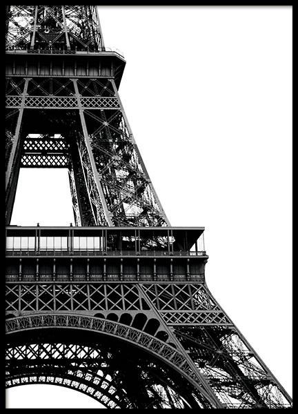 Eiffel Tower Close Up Poster in der Gruppe Poster / Schwarz-Weiß bei Desenio AB (11330)