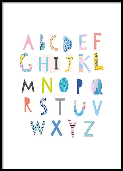 Papercut Alphabet Poster