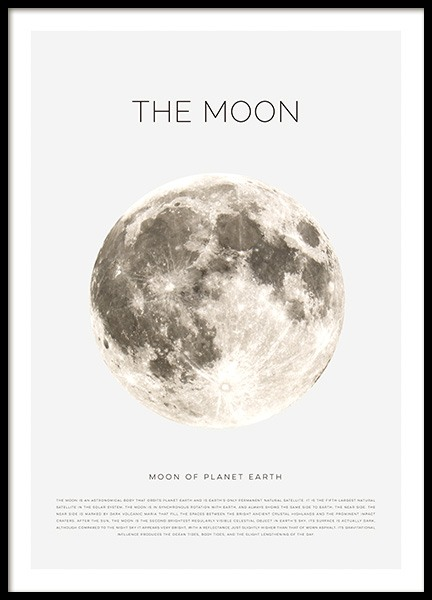 The Moon Poster in der Gruppe Poster / Kinder bei Desenio AB (11441)