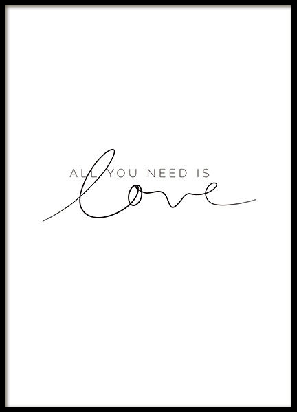 You Need Love Poster