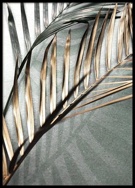 Gold and Green Palm Leaves Poster in der Gruppe Poster / Botanik bei Desenio AB (11507)