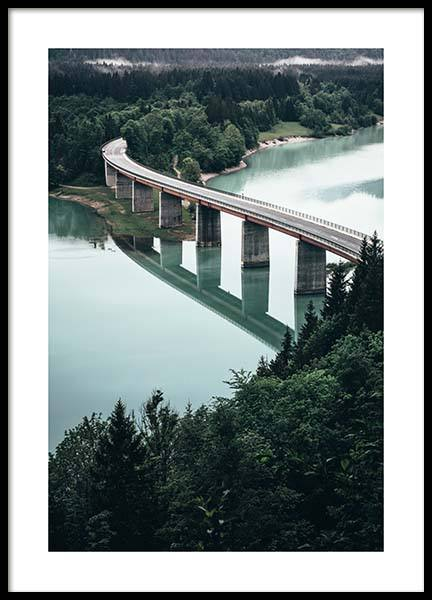 Bridge Over River Poster in der Gruppe Poster / Naturmotive bei Desenio AB (11631)