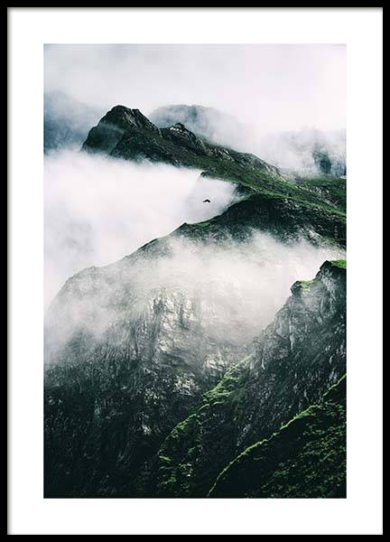 Rugged Misty Mountains Poster in der Gruppe Poster / Naturmotive bei Desenio AB (11632)