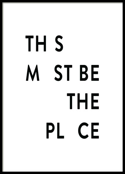 This Must be the Place Poster