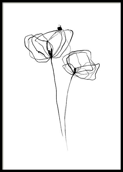 Line Flower No3 Poster