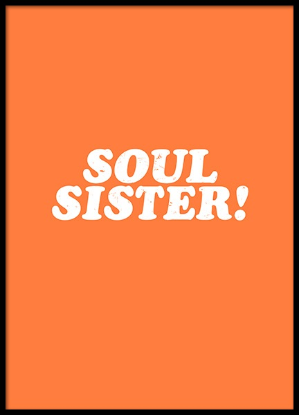 Soul Sister Poster in der Gruppe Poster / Typografie Poster bei Desenio AB (11819)