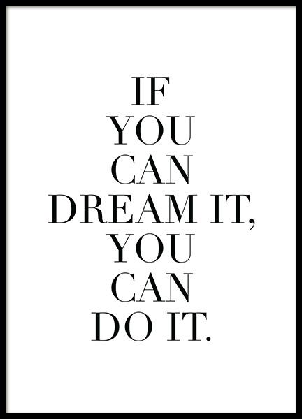 Dream it Poster