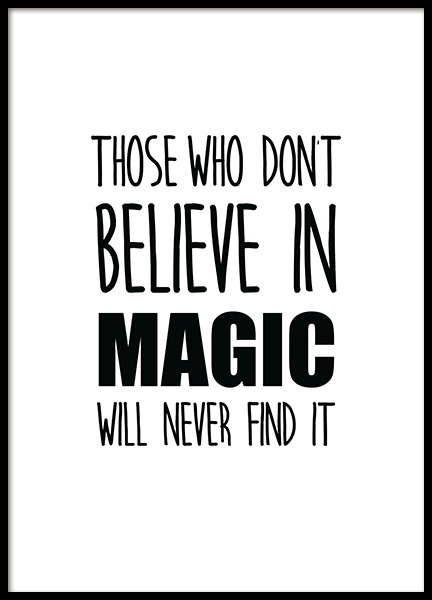 Believe in Magic Poster in der Gruppe Poster / Kinder bei Desenio AB (11902)
