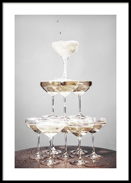 Champagne Pyramid Poster