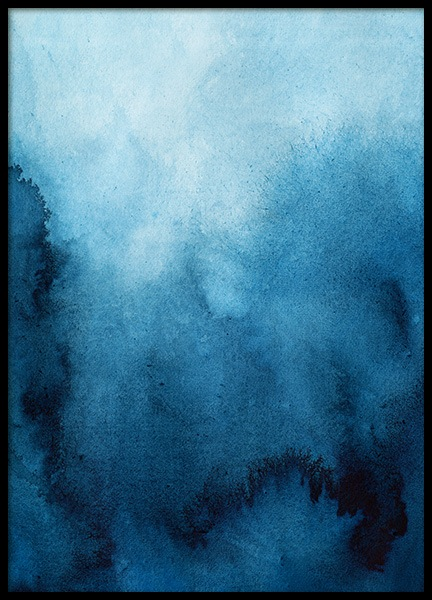 Blue Ombre Poster