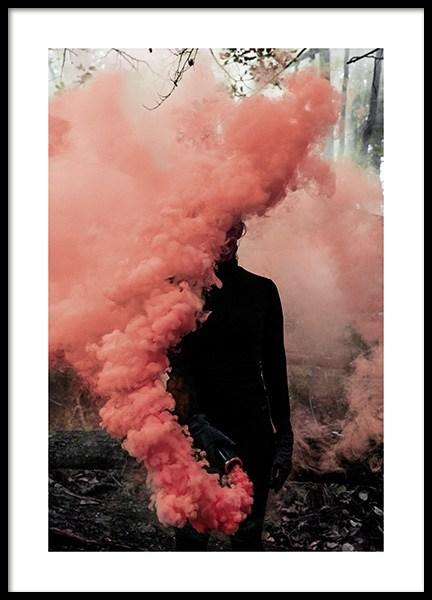 Coral Smoke Poster