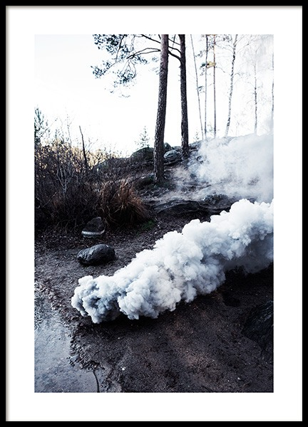 Smoke by the Shore Poster in der Gruppe Poster bei Desenio AB (12199)