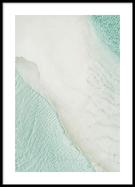Beach Aerial Poster