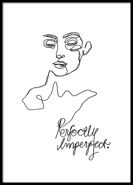 Imperfect Line Art Poster in der Gruppe Poster / Illustration bei Desenio AB (12359)