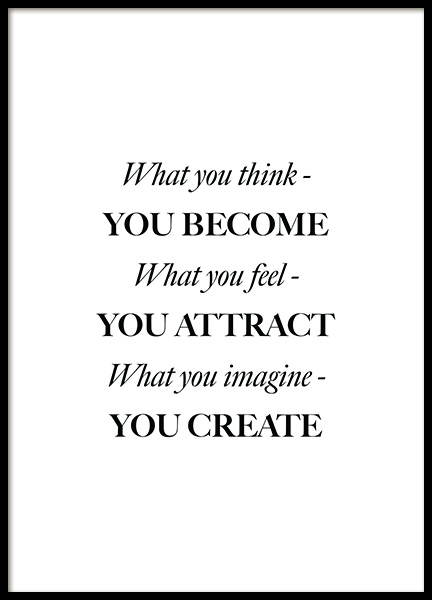 What You Think Poster in der Gruppe Poster / Typografie Poster bei Desenio AB (12394)