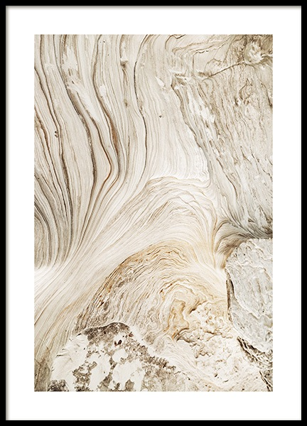 Abstract Cliffs Poster