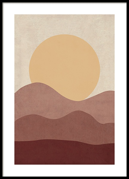Sunrise Illustration Poster