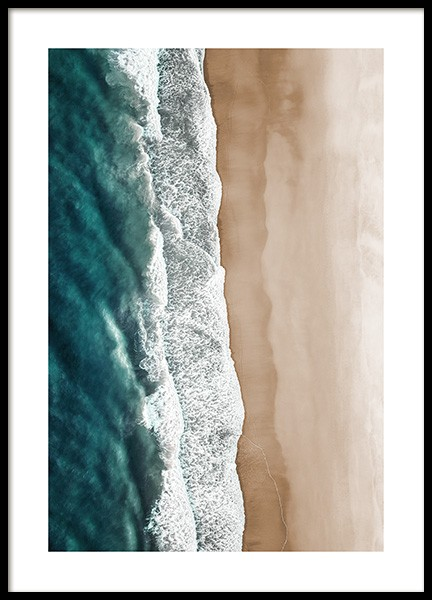 Rushing Sea Waves Poster